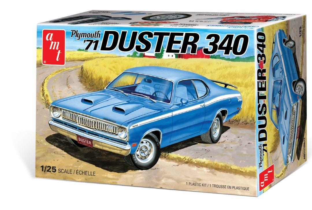AMT 1//25 71/' Plymouth Duster 340 Plastic Model Kit AMT1118 1118M